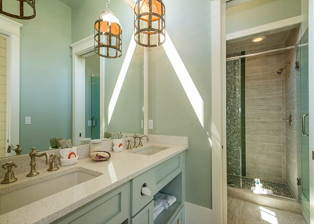 First Floor: Attached Carriage House Guest Bathroom