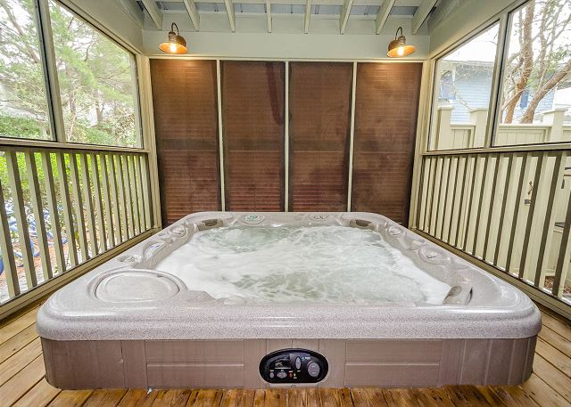 First Floor:  Hot Tub