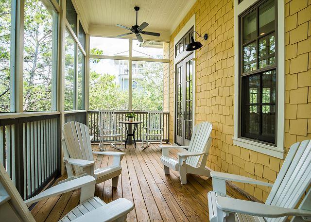 Second Floor: Screened in Porch