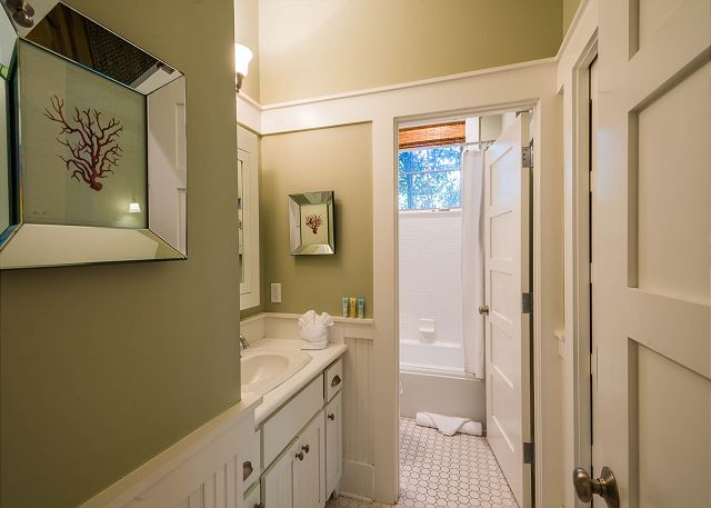 First Floor: Private Queen Bathroom