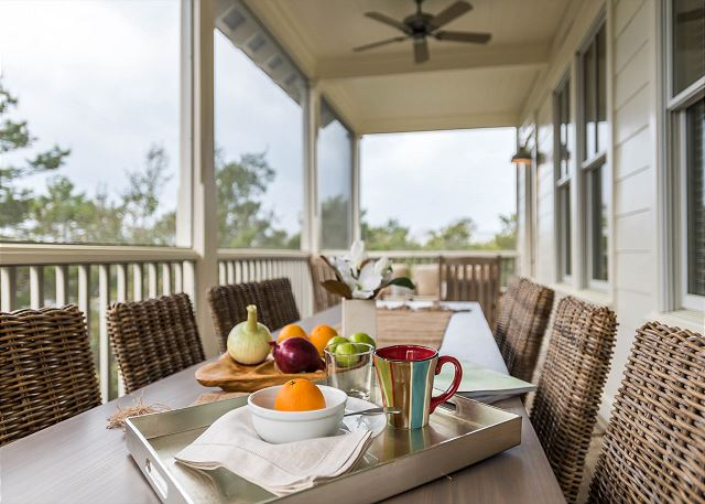 Second Floor: Screened Porch with Outdoor Dining