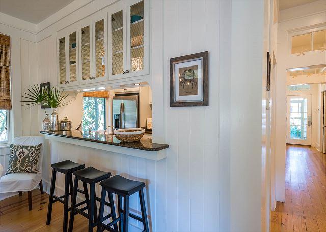 First Floor: Kitchen Bar Seating