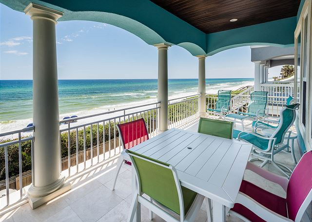 Second Floor: Porch Overlooking the Gulf