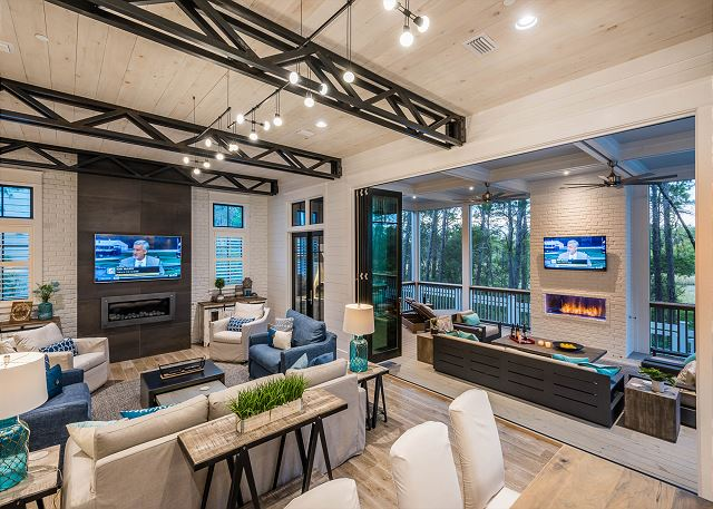 First Floor: Open Floor Plan with Outdoor Entertaining Space