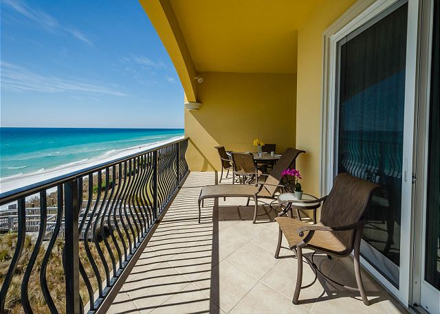 Private Balcony With Stunning Gulf Front Views