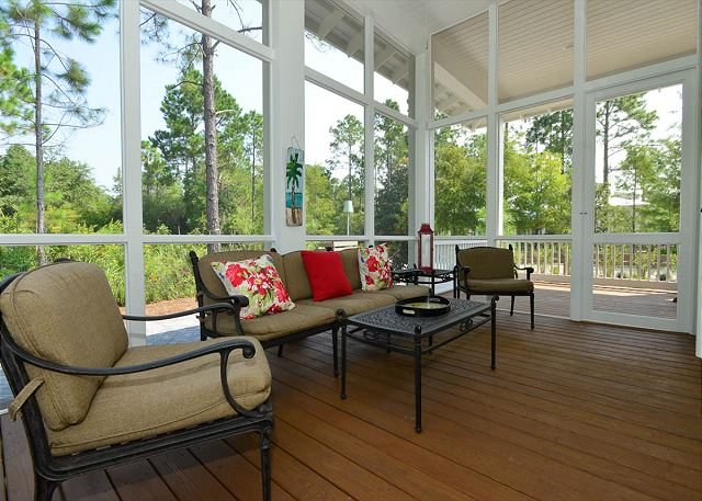 Screened Porch with Sitting Area