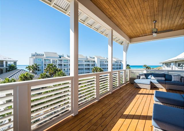 Third Floor: Porch with Gulf Views