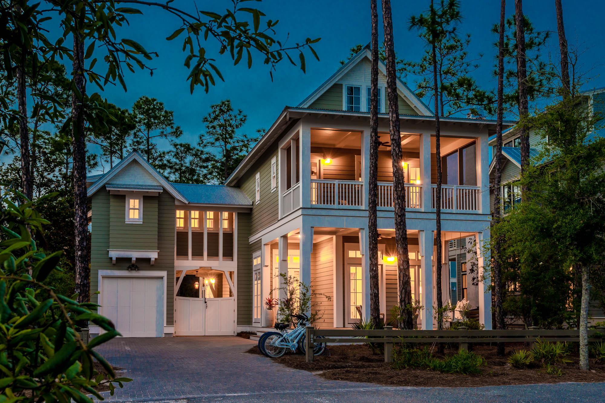 Watercolor 82 vermillion way vacation rentals in santa for Watercolor florida house plans