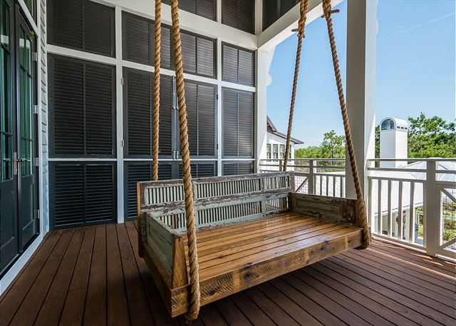 Second Floor: Master Porch with Swing