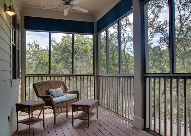 Second Floor: Private Master Screened Porch