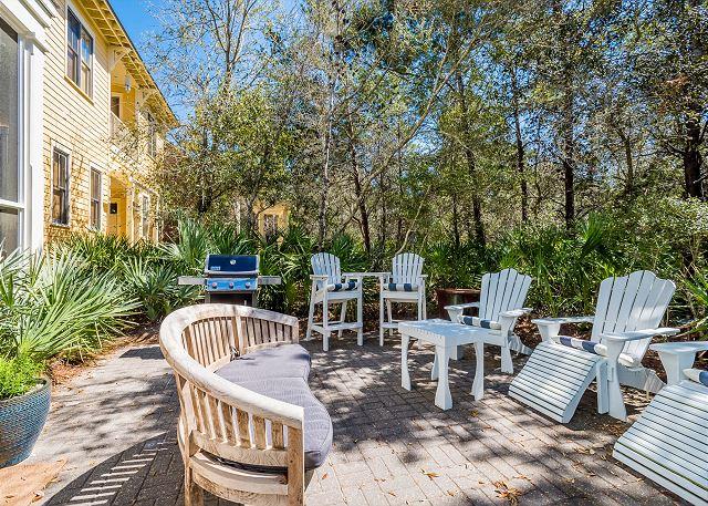 Backyard with Propane Grill