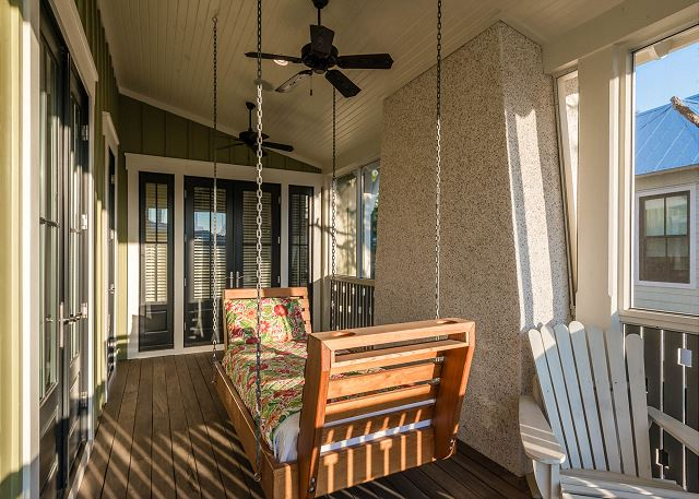 Second Floor: Screened Porch Swing