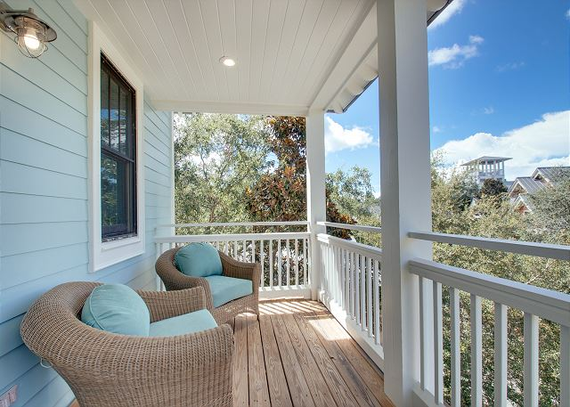 Second Floor: Private Porch Off Guest Bedroom