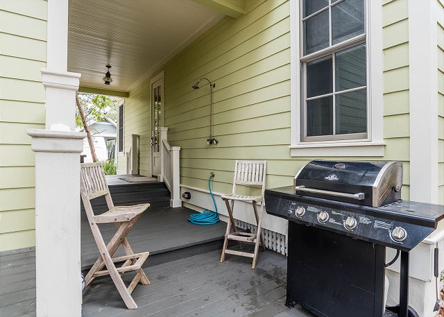 Outdoor Shower and Propane Grill