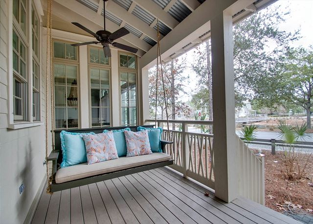 Side Porch with Swing