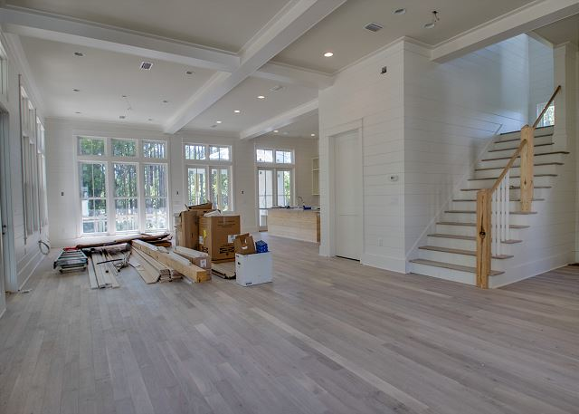 First Floor: Open Concept Living, Dining, and Kitchen Area