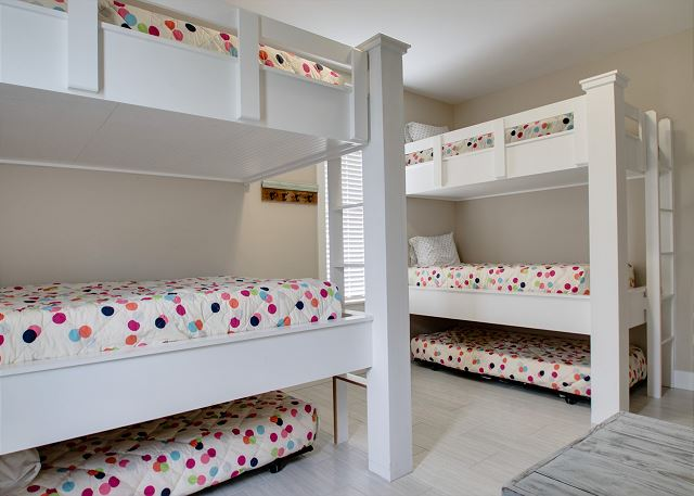Third Floor: Bunk Room with Private Bathroom