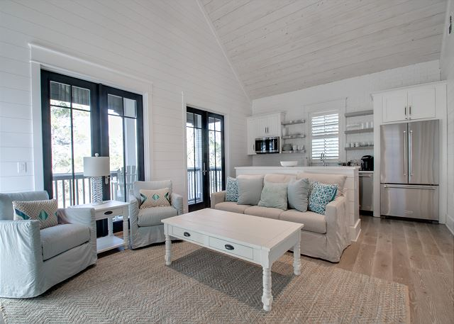 Second Floor: Carriage House Living Area