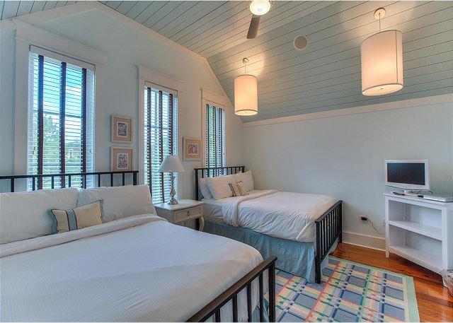 Second Floor: Guest Bedroom with Two Queen Beds