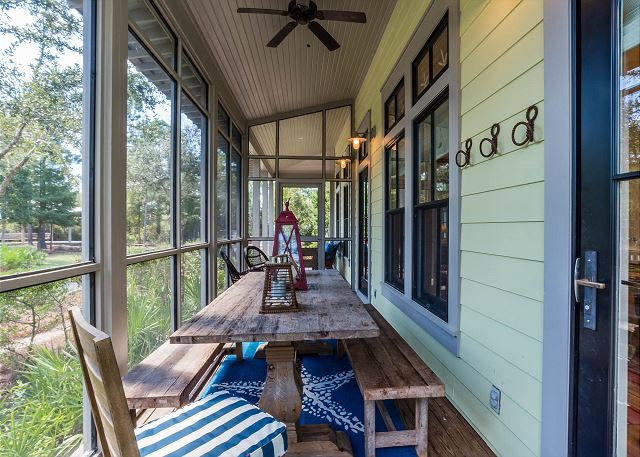 First Floor: Screened Porch with Outdoor Dining