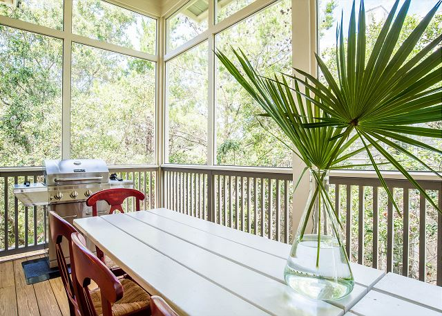Second Floor: Screened in Porch with Grill