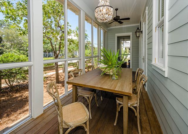 First Floor: Screened Porch with Dining