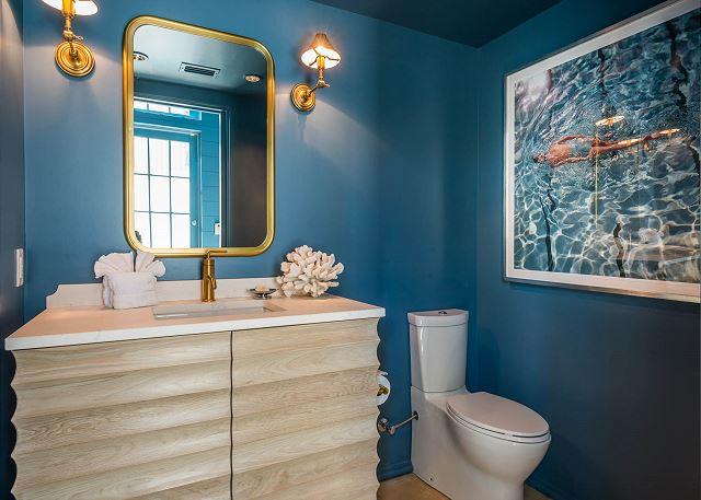 First Floor: Powder Bathroom Off Living Room