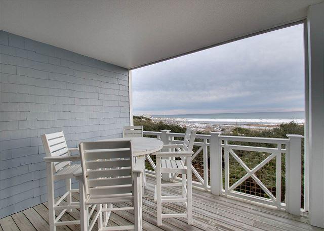 Second Floor: Balcony overlooking Gulf