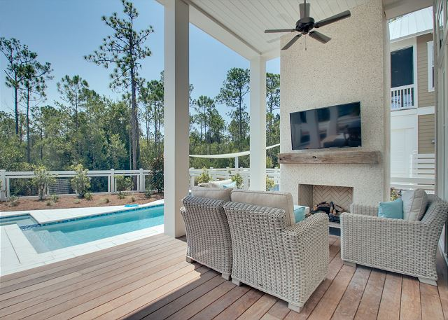 Outdoor Living Area and Private Pool