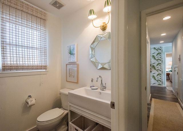 First Floor: Kids Bunkroom Private Half Bathroom