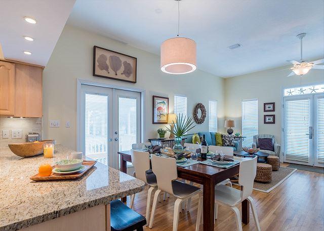 First Floor: Dining room/Living room