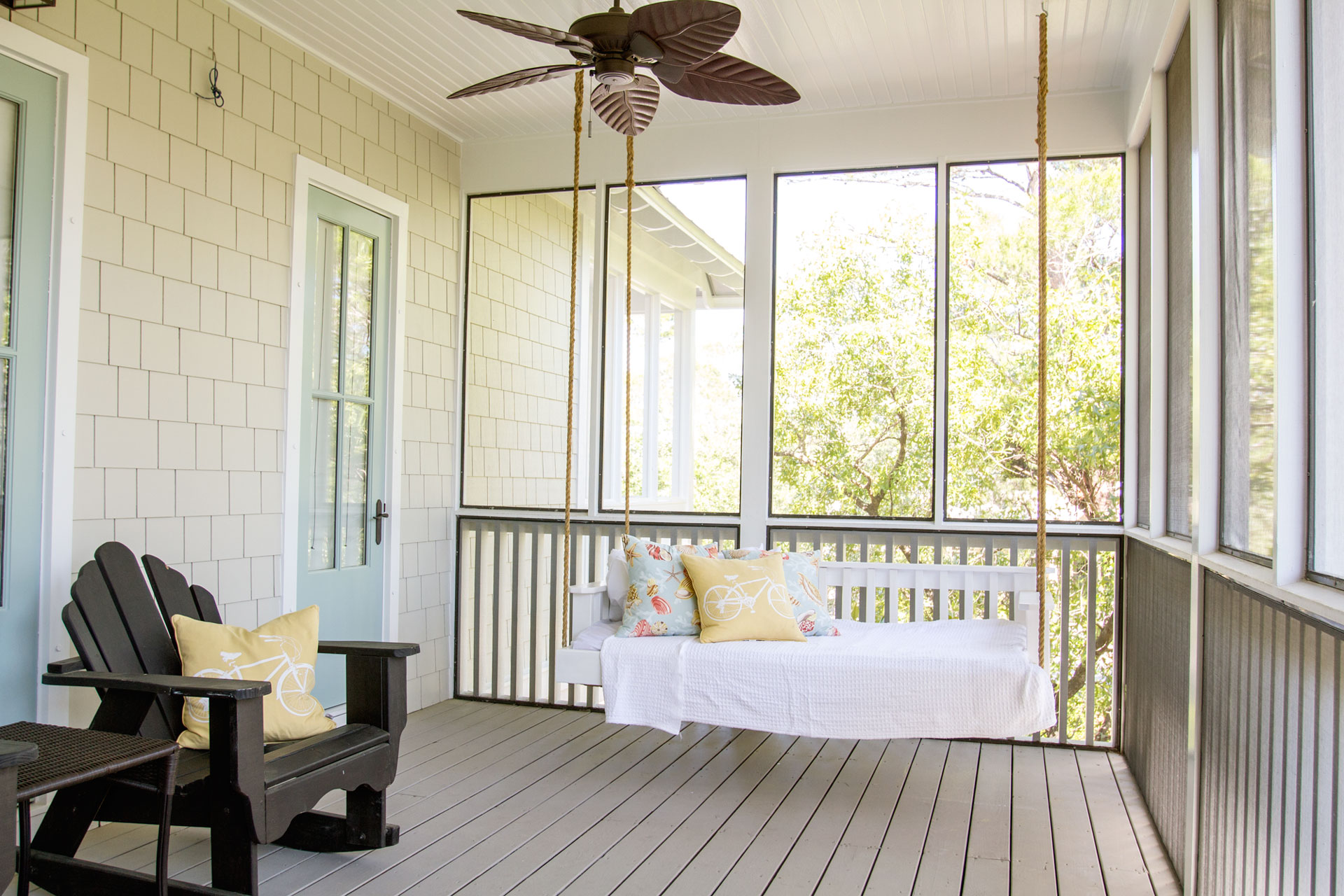 Second Floor Porch Swing
