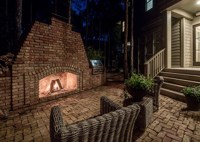 Cozy Outdoor Fireplace