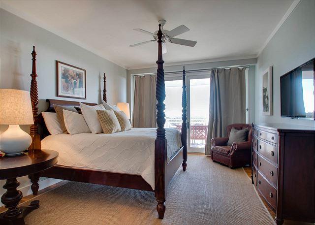 Second Floor: Master Bedroom with Balcony Access