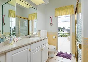 Convenient door out to the pool. All towels and linens are provided.