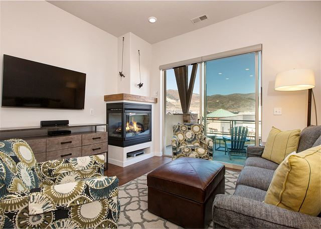 Park City UT Vacation Rental Gas fireplace and