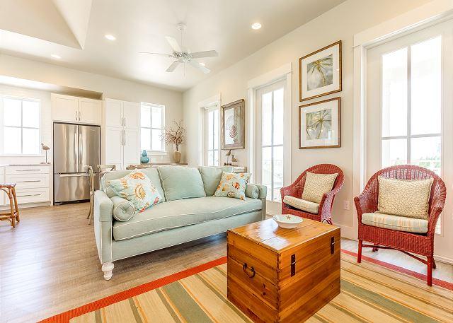 Port Aransas TX Vacation Rental Living area has