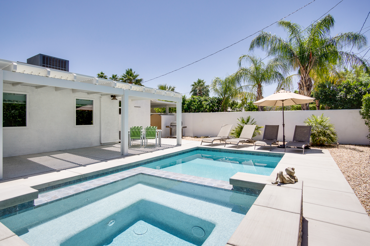 Palm Springs CA Vacation Rental Beautiful, private backyard