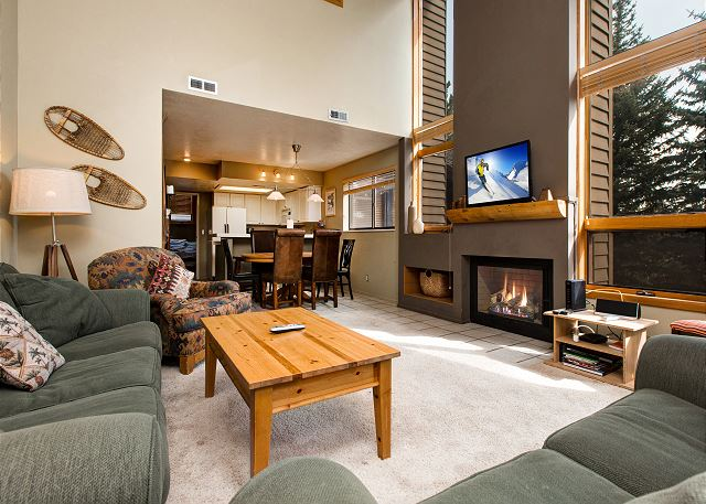 Park City UT Vacation Rental A crackling wood