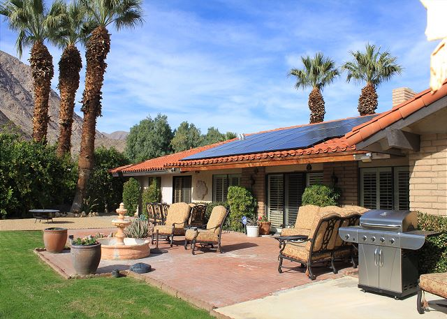 Borrego Springs CA Vacation Rental The back patio