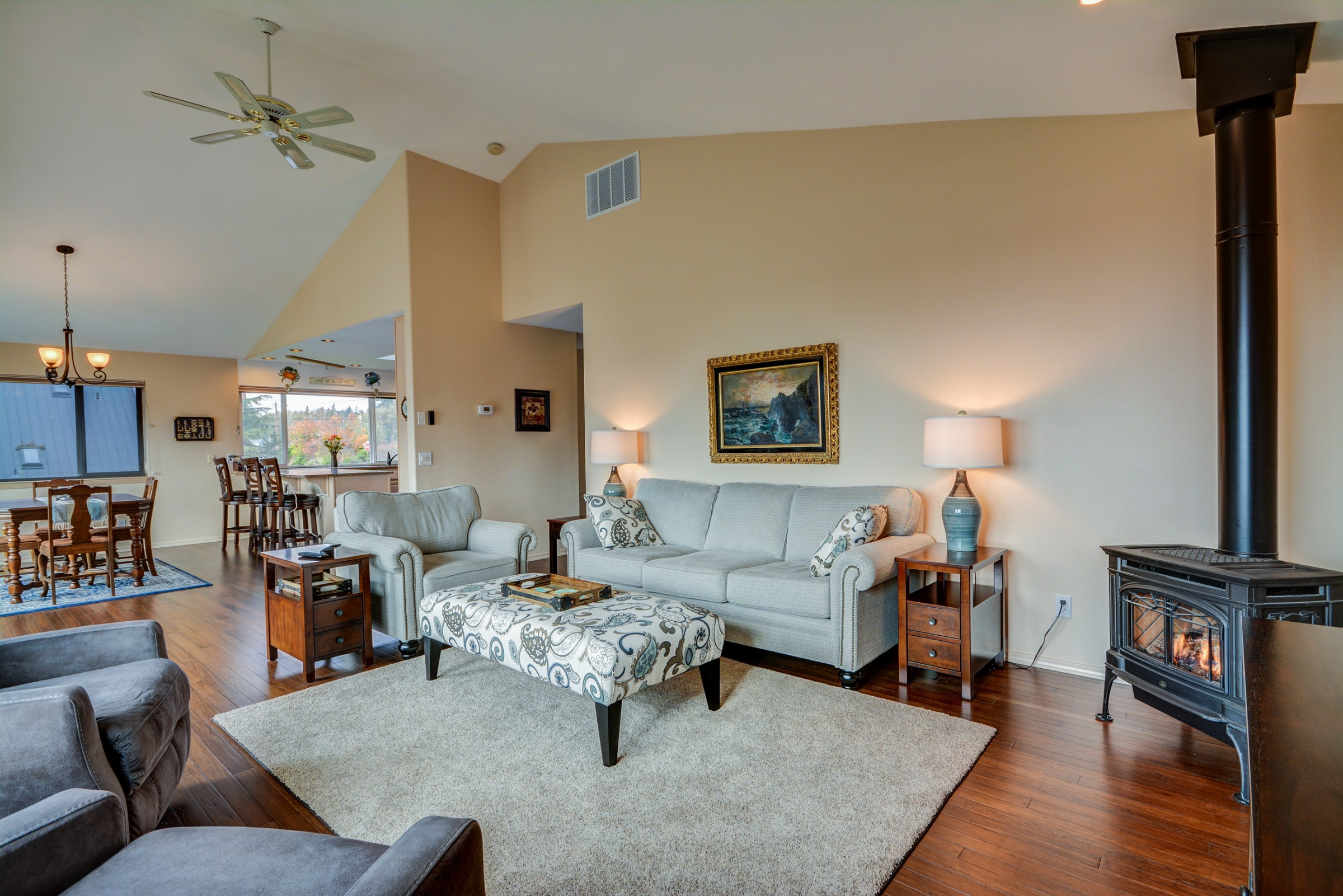 Coupeville WA Vacation Rental The open plan