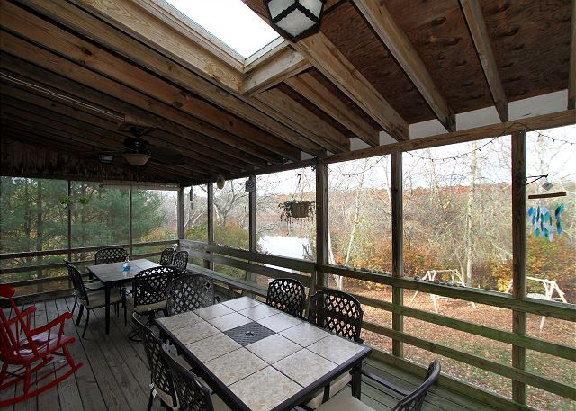 Hyannis MA Vacation Rental A spacious screened-in