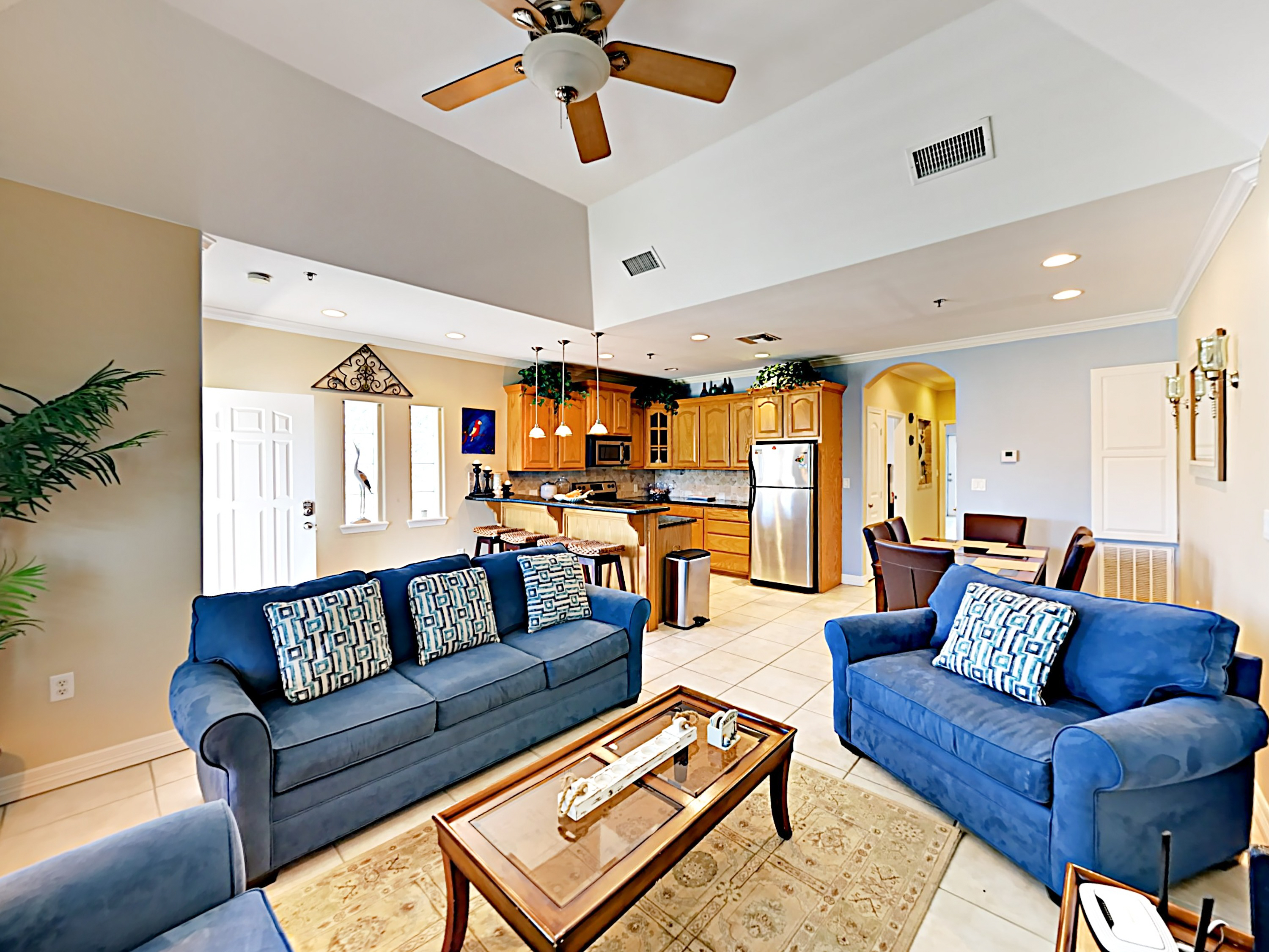 South Padre Island TX Vacation Rental A welcoming open-concept