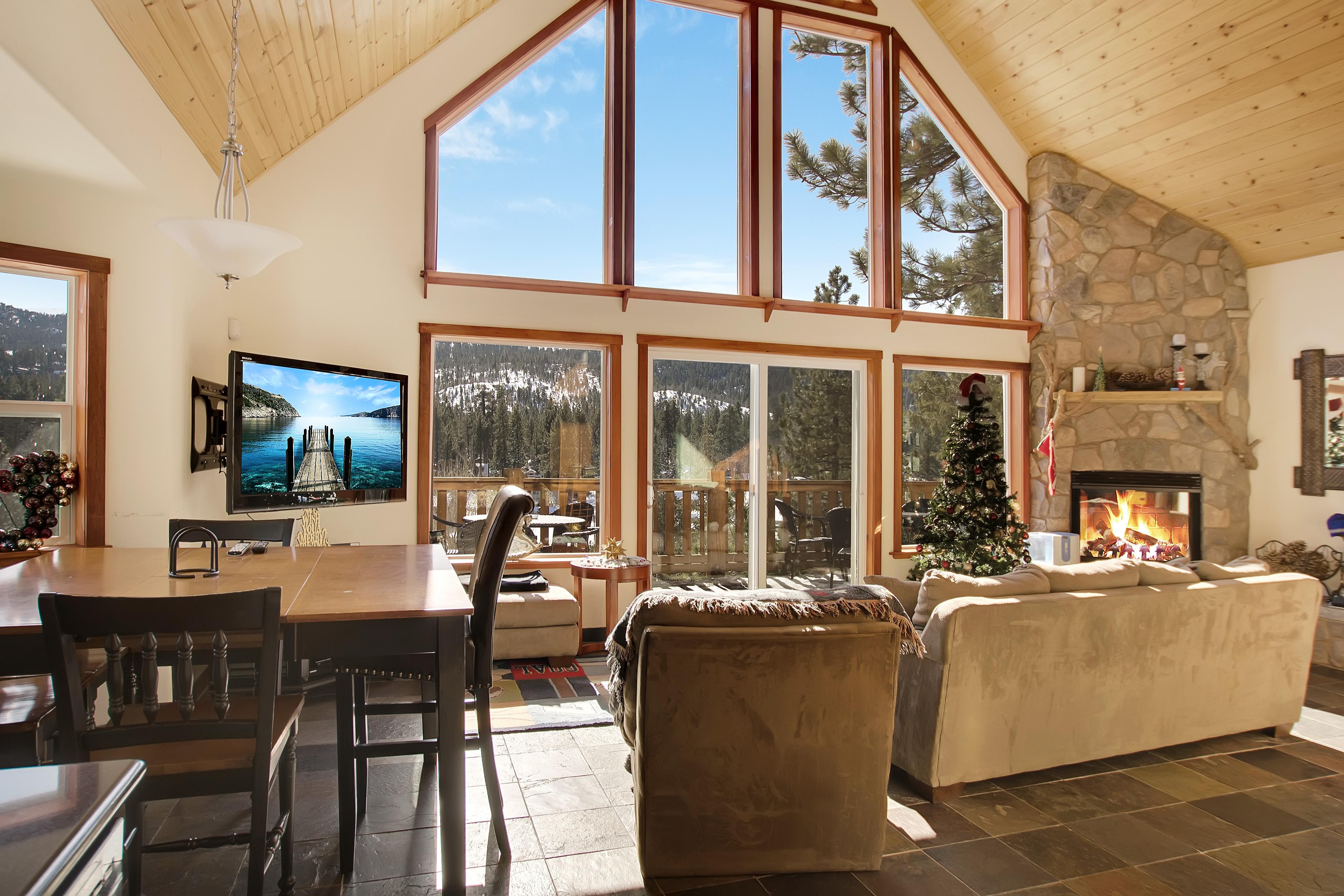 Big Bear Lake CA Vacation Rental A sun-soaked open