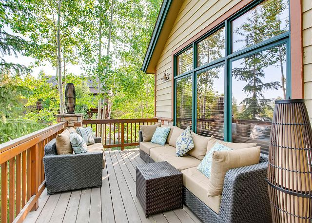 Frisco CO Vacation Rental An outdoor deck