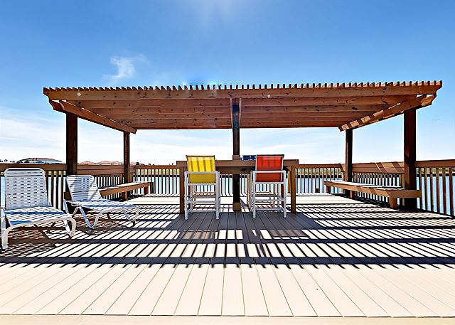 Corpus Christi TX Vacation Rental The shared deck