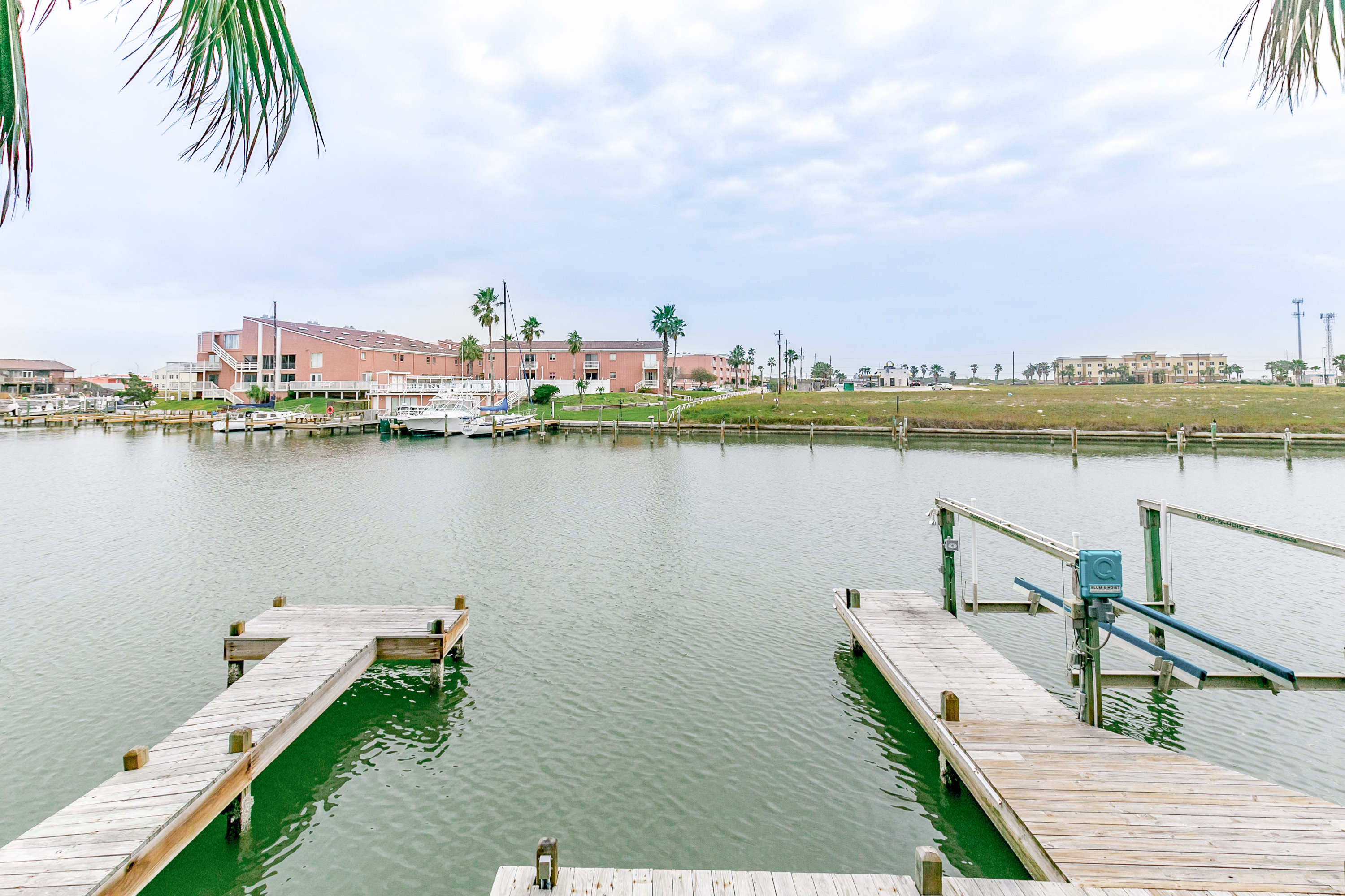 Corpus Christi TX Vacation Rental Boat dock just