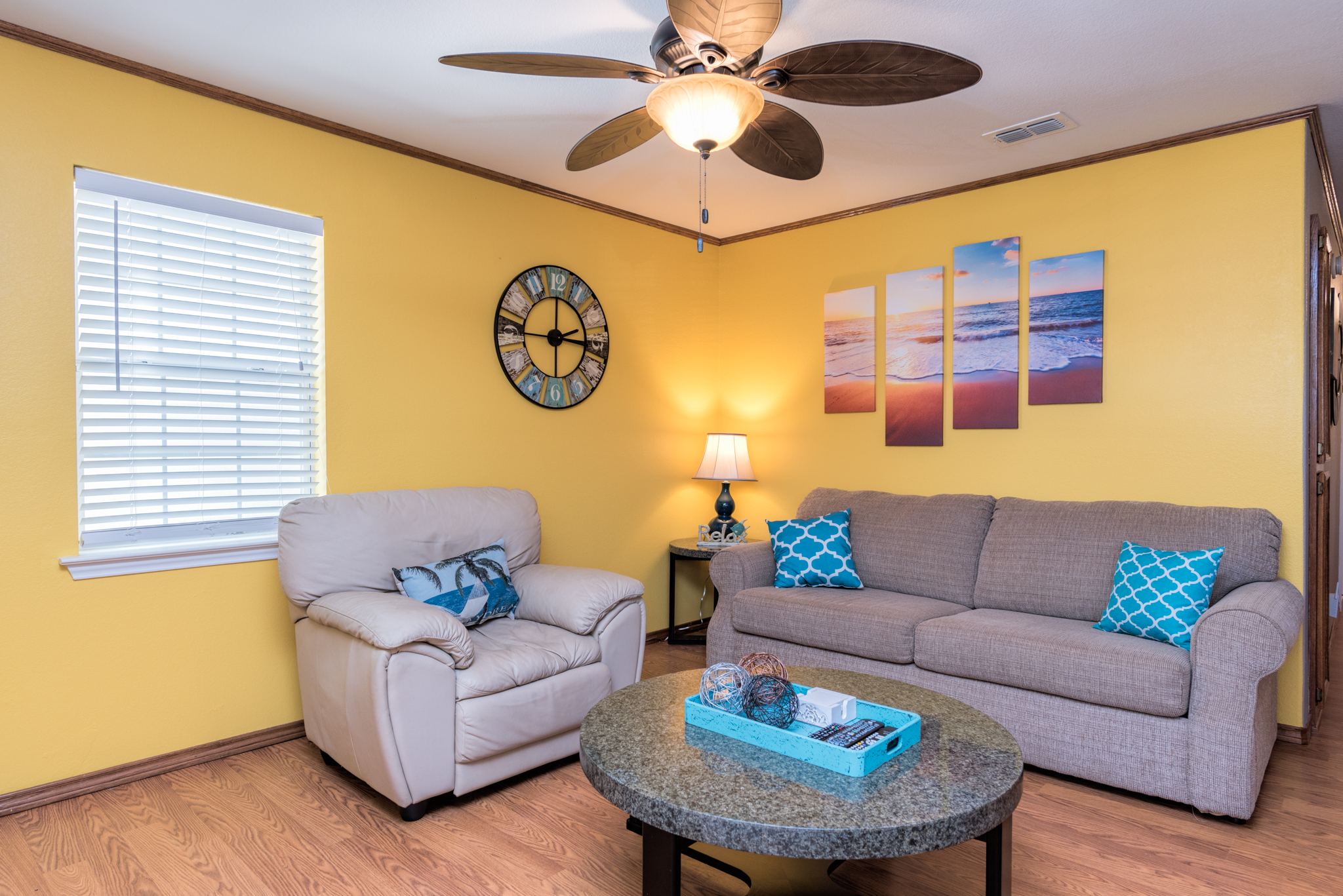 South Padre Island TX Vacation Rental Sofa with a