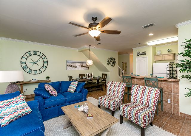 Corpus Christi TX Vacation Rental A ceiling fan