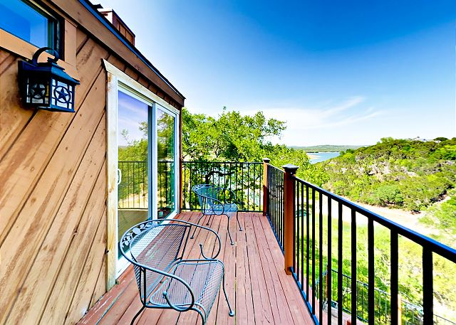 Spicewood TX Vacation Rental The balcony offers